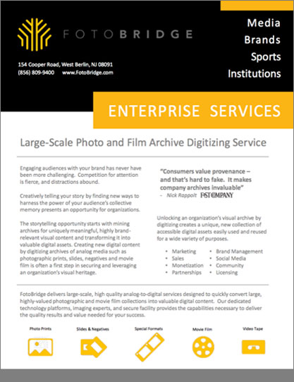 Enterprise Scanning Service Brochure